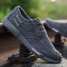 Pria Jeans cuci air Sepatu kanvas sepatu lapisan tunggal Musim semi dan musim panas baru sepatu