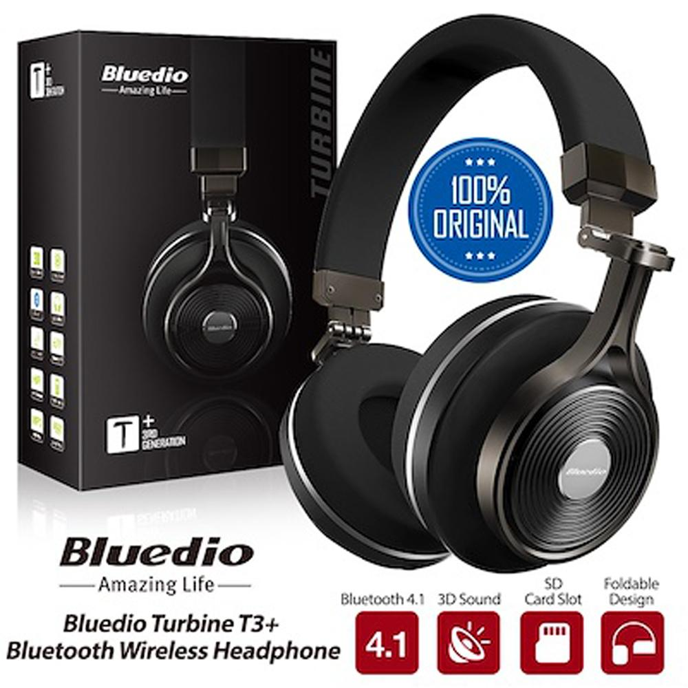 Bluedio Headphone T3+ Original 3D bass Bluetooth Wireless Headset Portable With Microphone For Music Iphone Samsung