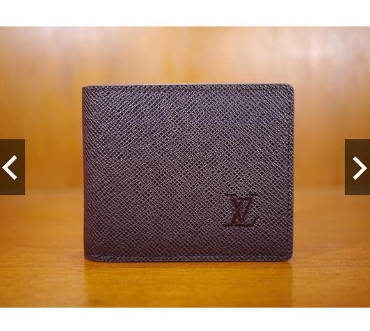 Dompet Pendek Kulit Pria Cowo Import Branded Lv 128 Brown