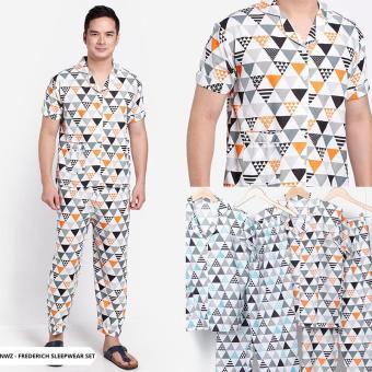 Pencari Harga Frederich Abstract Comfy Men Sleepwear Set-Mint terbaik murah - Hanya Rp25.270