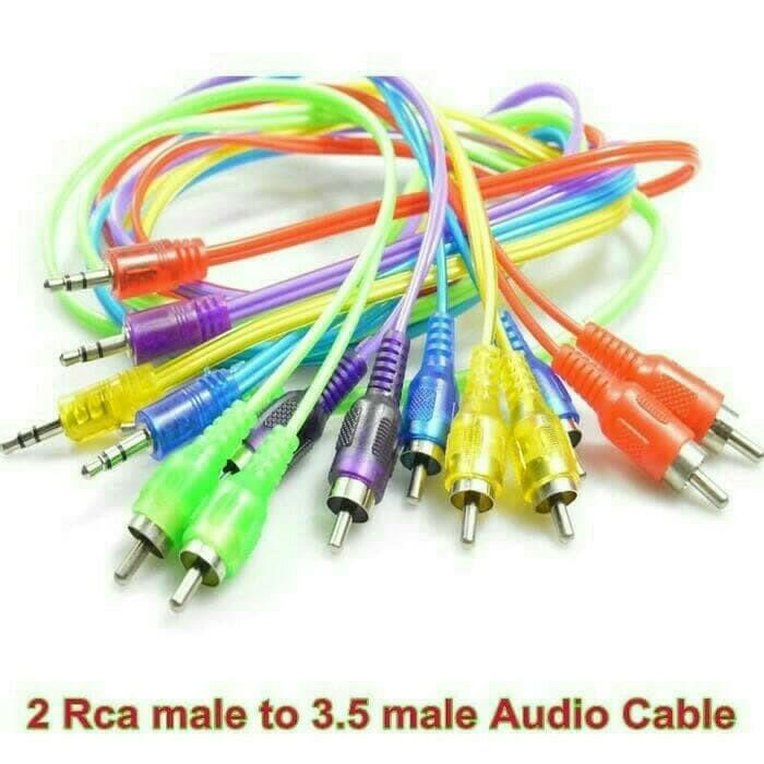 Kabel Aux Audio 2 In 1 Hp Ke Speaker Jack 3,5mm Cable 1 Meter