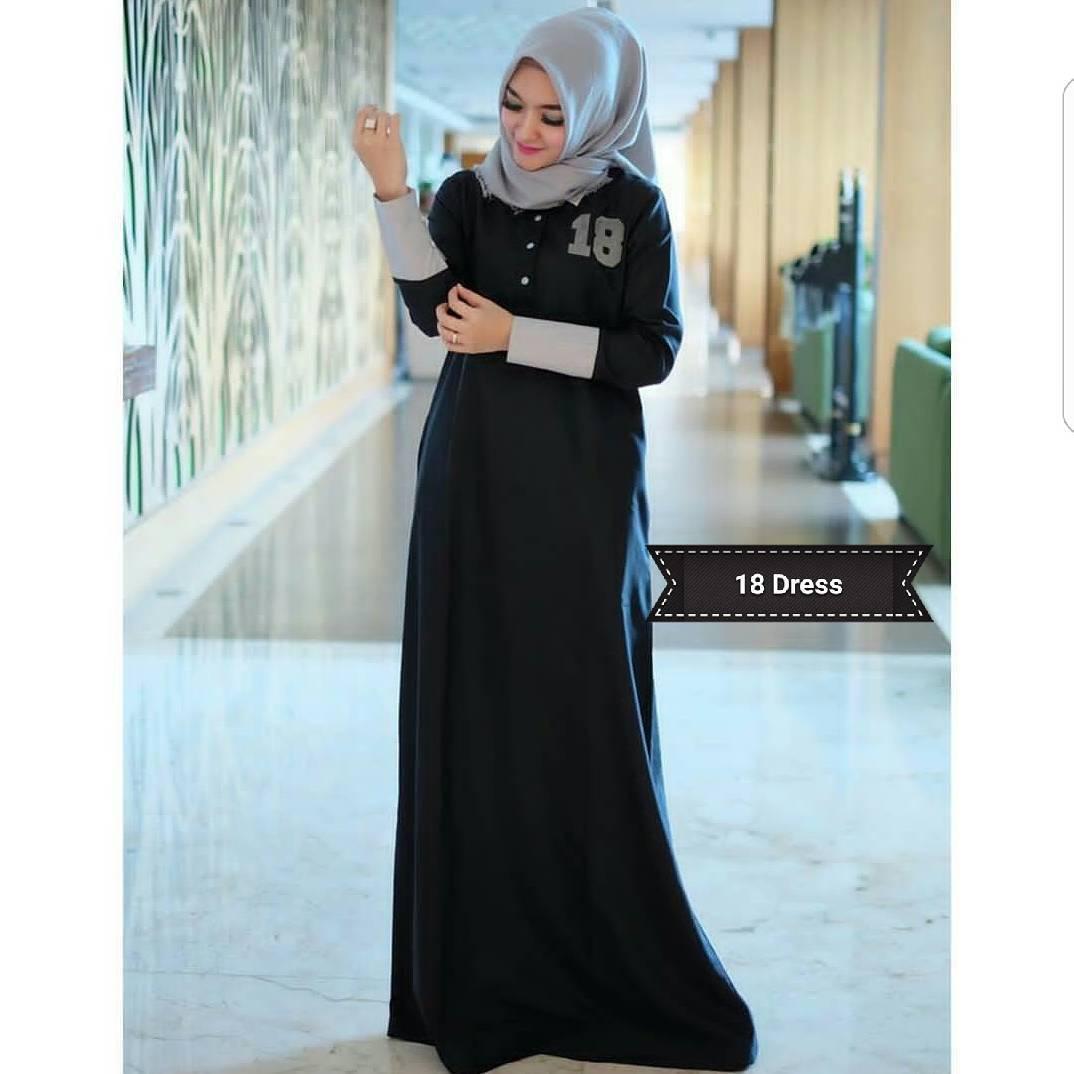 Gamis 18 Dress Balotelly Pakaian Wanita Panjang Muslim Simple Casual Baju Hijab Syar'I Modern Baju Gaun Pesta Simple Modis Trendy Baju Model Terbaru
