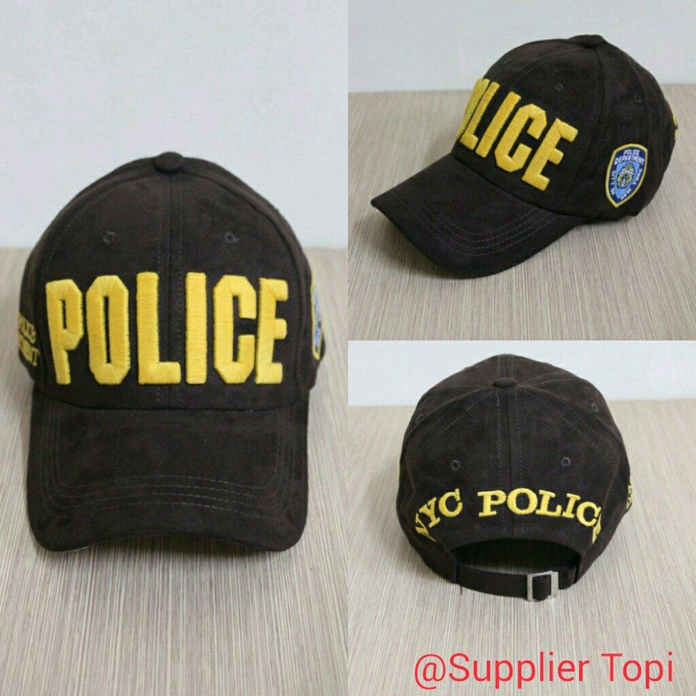 TOPI BASEBALL IMPORT POLICE BROWN