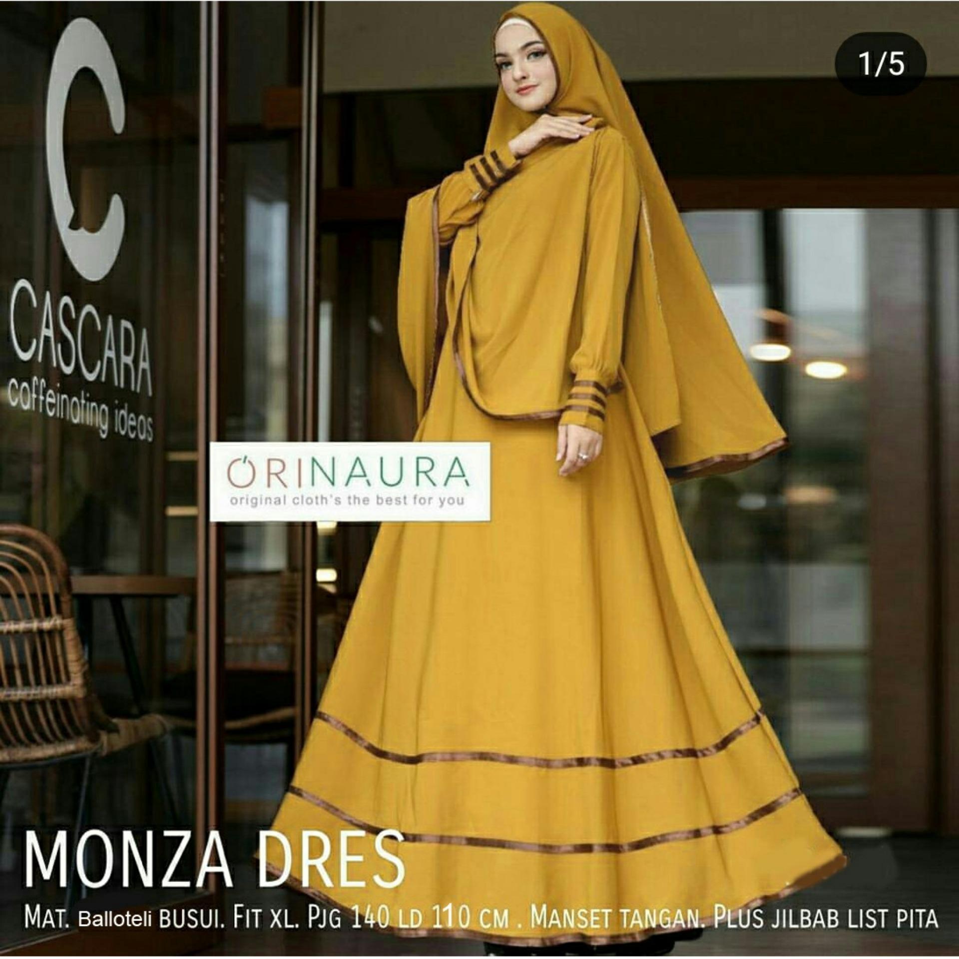 AAYZ Gamis Syari Balotelly / Gaun Muslimah Syar'i / Baju Muslim Wanita / Maxi Dress / Kebaya Muslim