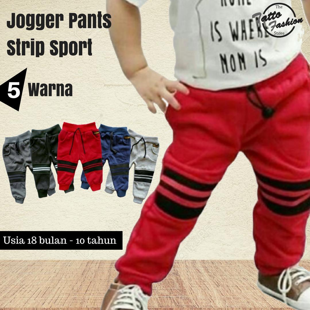Celana Jeans Anak Laki Panjang Jogger Training Pria Dewasa Big Size Polos Felix Jumbo Sport Strip Untuk