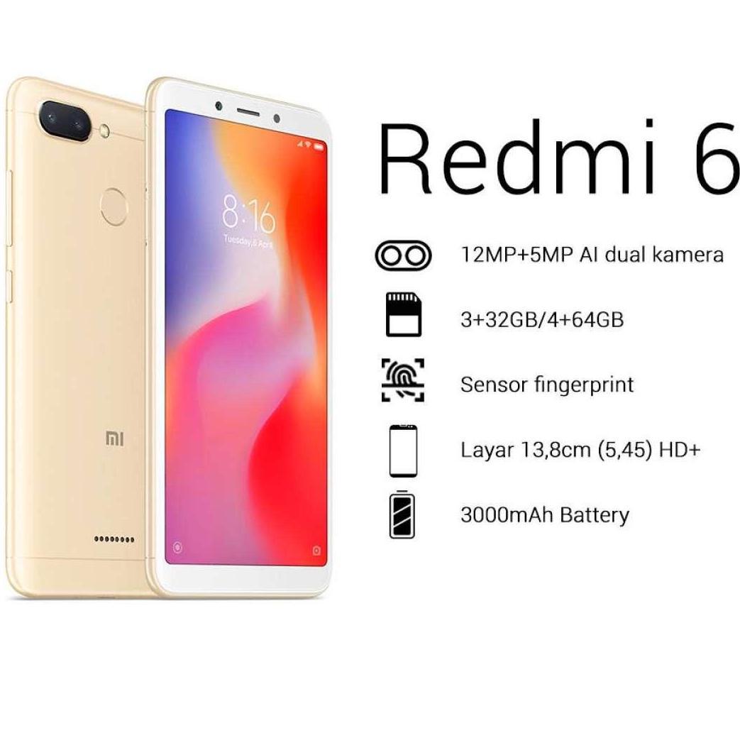 Xiaomi Redmi 6 4/64GB Garansi TAM