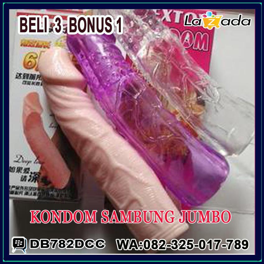 Alat bantu_kesehatan_Sex_Untuk Pria Wanita Kondom_SAMBUNG_JUMBO_silicon_penis_kuat_tahan_lama_ring_asli