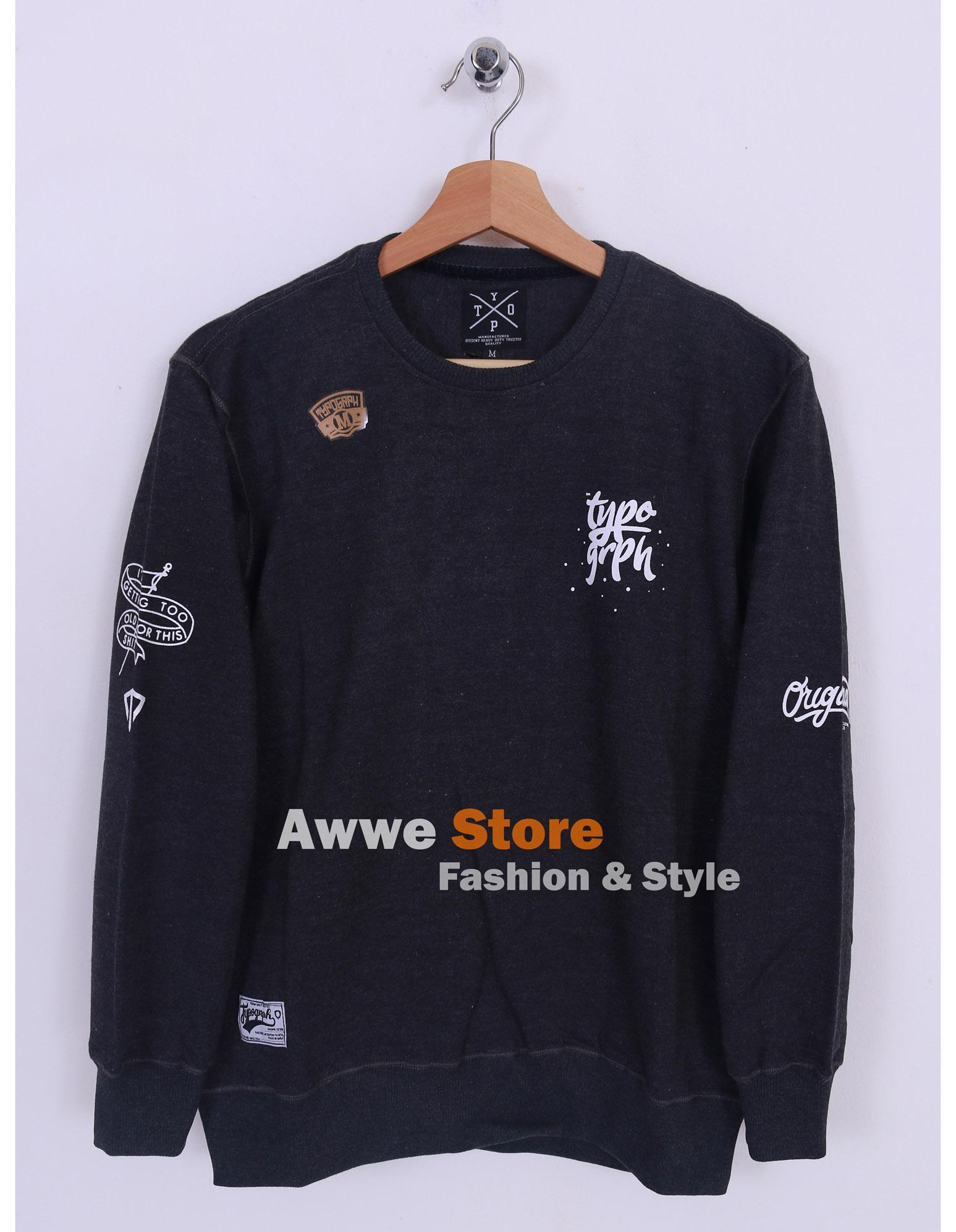 Awwe Store Sweater termurah / sweater pria / sweater distro / sweater tanah abang / sweater fashion / jaket / sweater thypograph 10