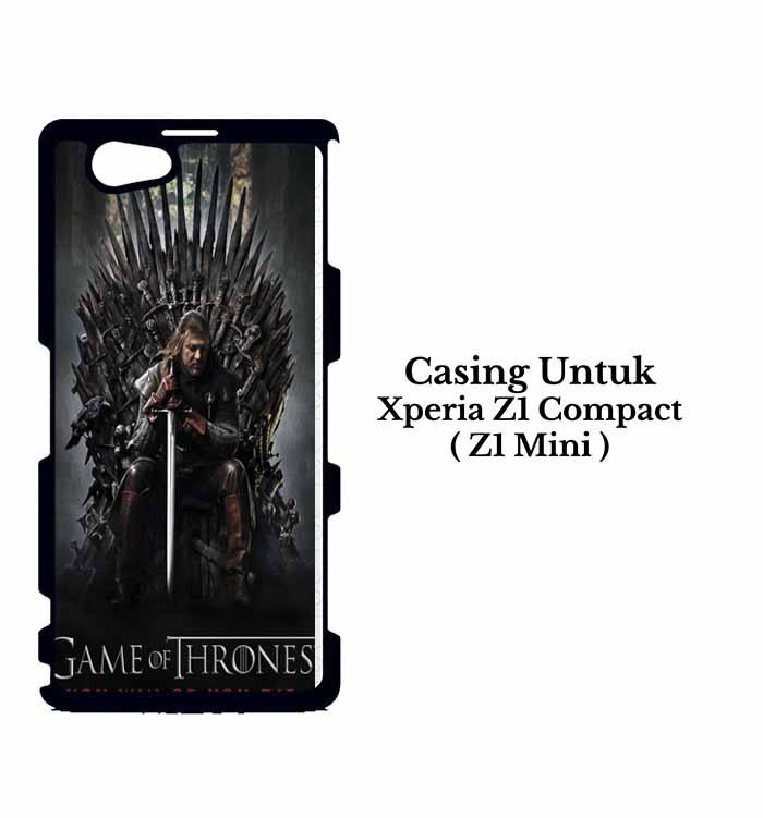 Casing XPERIA Z1 COMPACT game of thrones inspired Custom Hard Case Cover