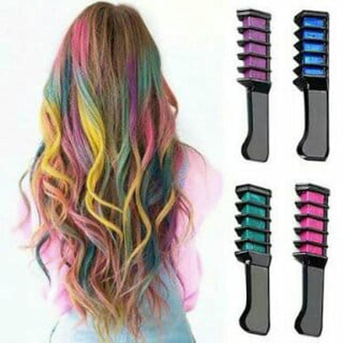 Pewarna Rambut Instant Huda Temporary Hair Chalk - Harga Tertera 1pcs