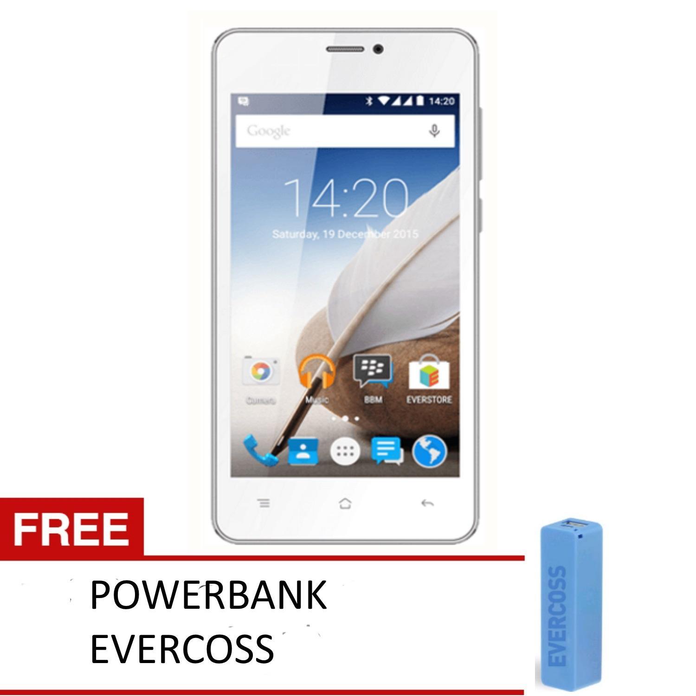 Handphone Evercoss Terlaris Murah A28b A65b Winner X3 8gb Putih Free Powerbank