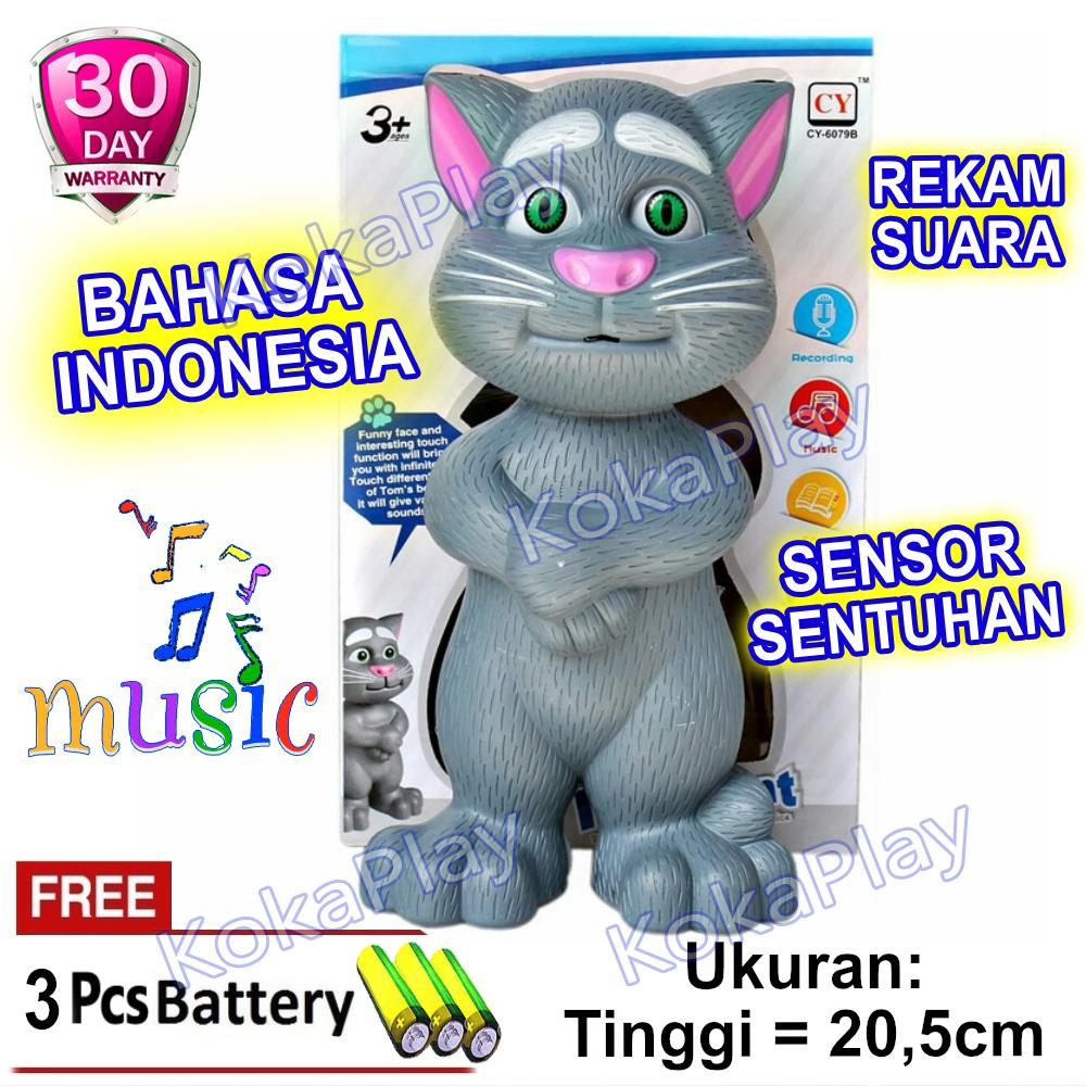 KokaPlay Boneka Intelligent Talking Tom Cat Mini Bahasa Indonesia Mainan  Anak Laki Laki Perempuan Edukasi Touch 709872dc7a