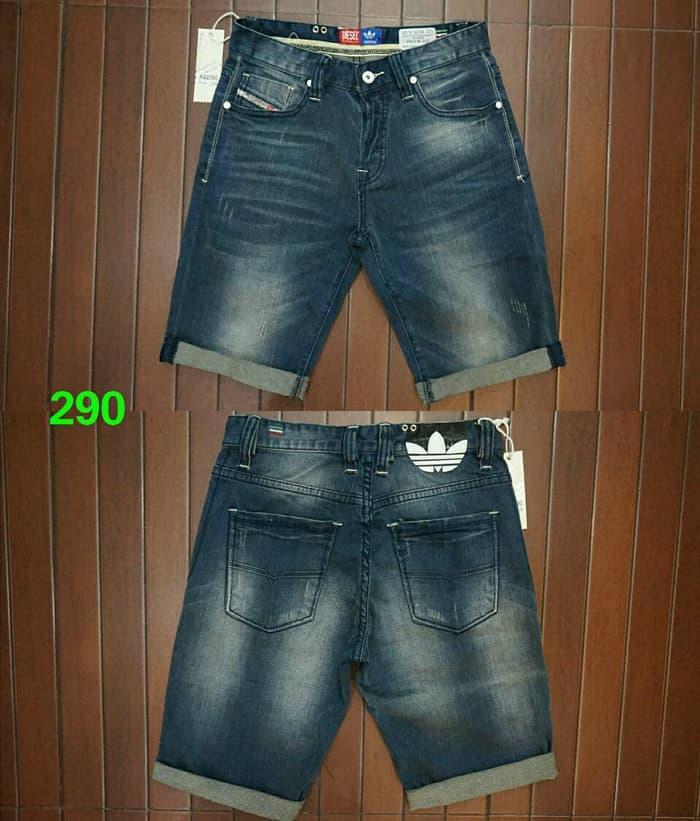 diskon10%!! Celana Pendek Adidas Diesel Jeans Slim Fit Import Made In Romania - ready stock