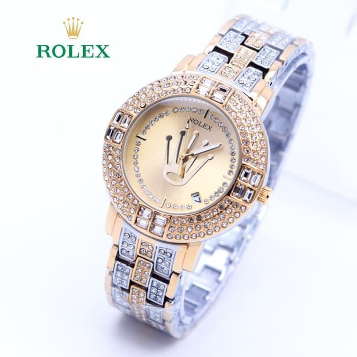 [PROMO] Jam Tangan Wanita Rolex Diamond Super Mewah ( Aigner Bonia Guess Rado)  MURAH