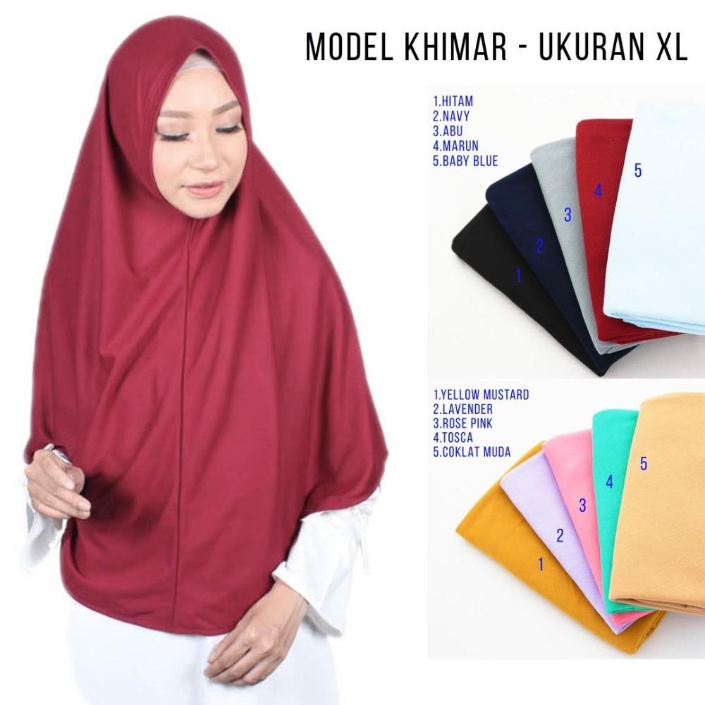 Jilbab Kaos Instan Najwa XL / Kerudung Instan / Jilbab Hijab Instan XL Khimar