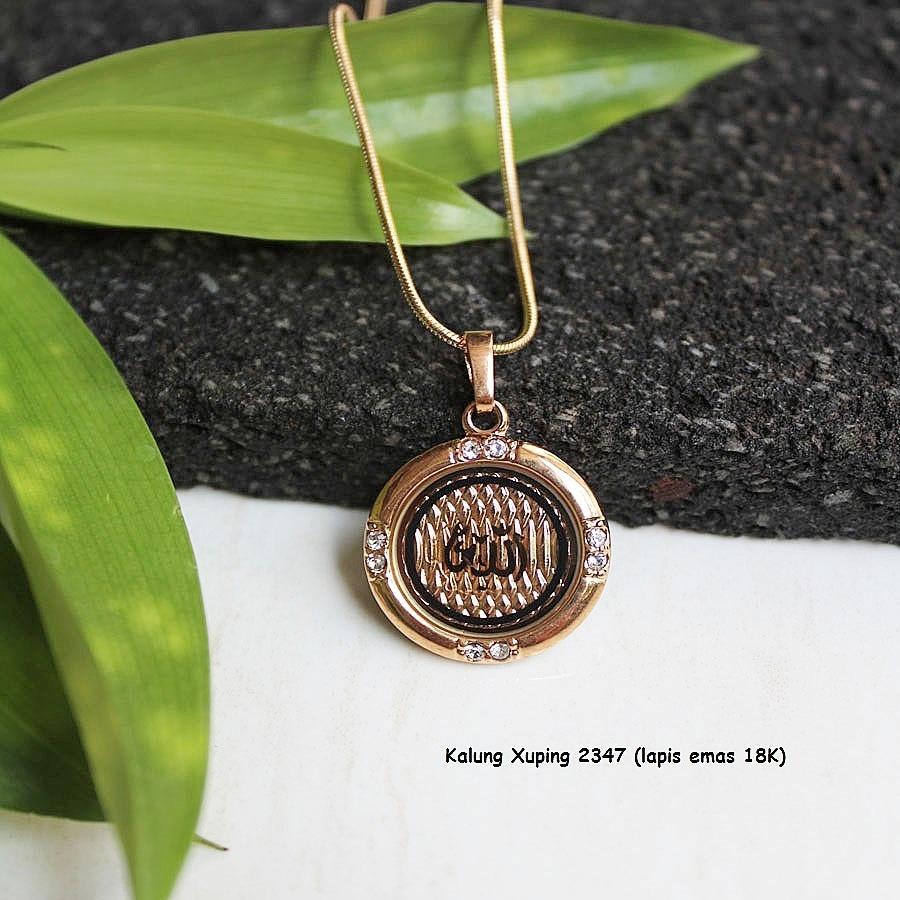 Rajanya Murah Perhiasan Kalung Wanita Xuping Sepuh Emas Cantik