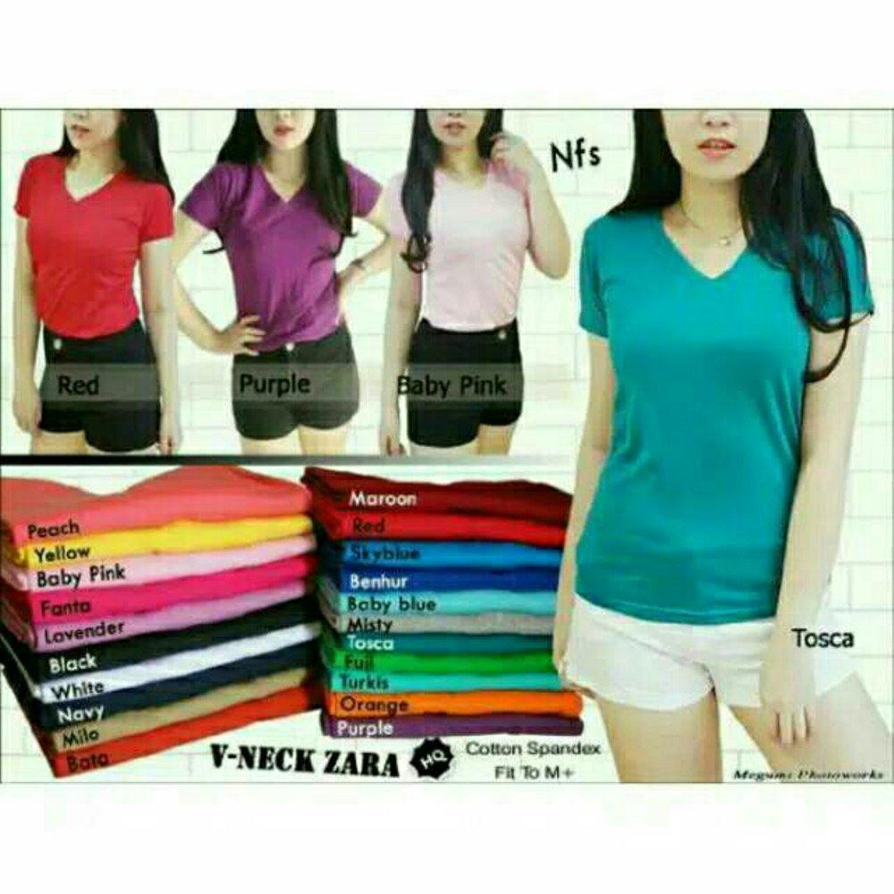 Buy Sell Cheapest Kaos Vneck Polos Best Quality Product Deals Yellow Baby Wanita