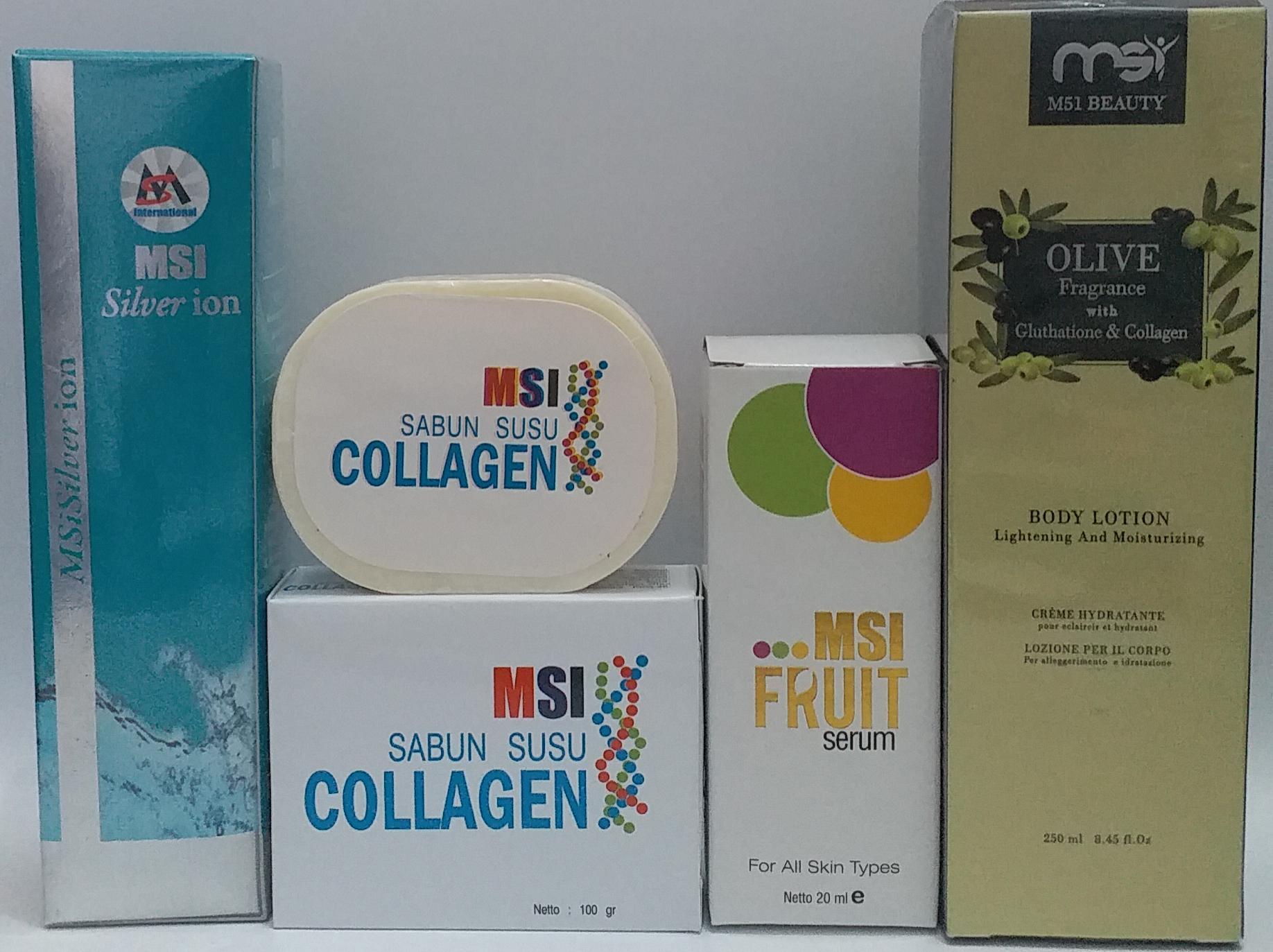 Harga Collagen Body Lotion Terbaru 2018 Murah Nasa Paket Msi Ion Silver Fruit Serum