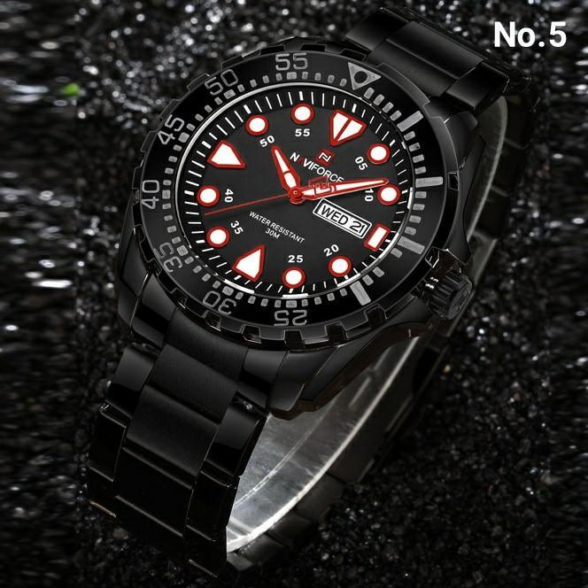 Jam Tangan Pria Original Naviforce 9105 Rantai - 5 Pilihan Warna
