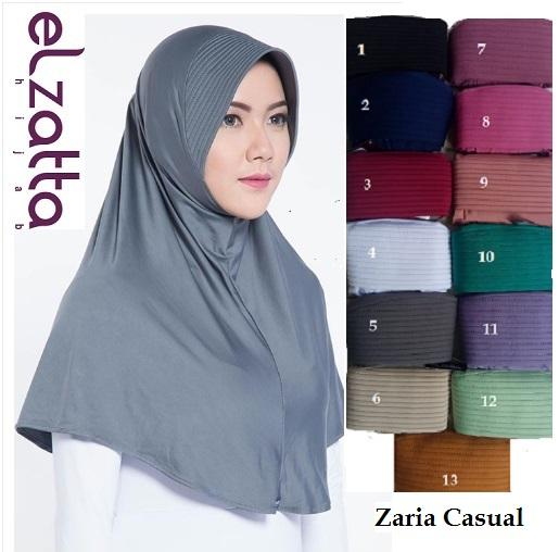 Jilbab Bergo original kerudung Elzatta Zaria Casual