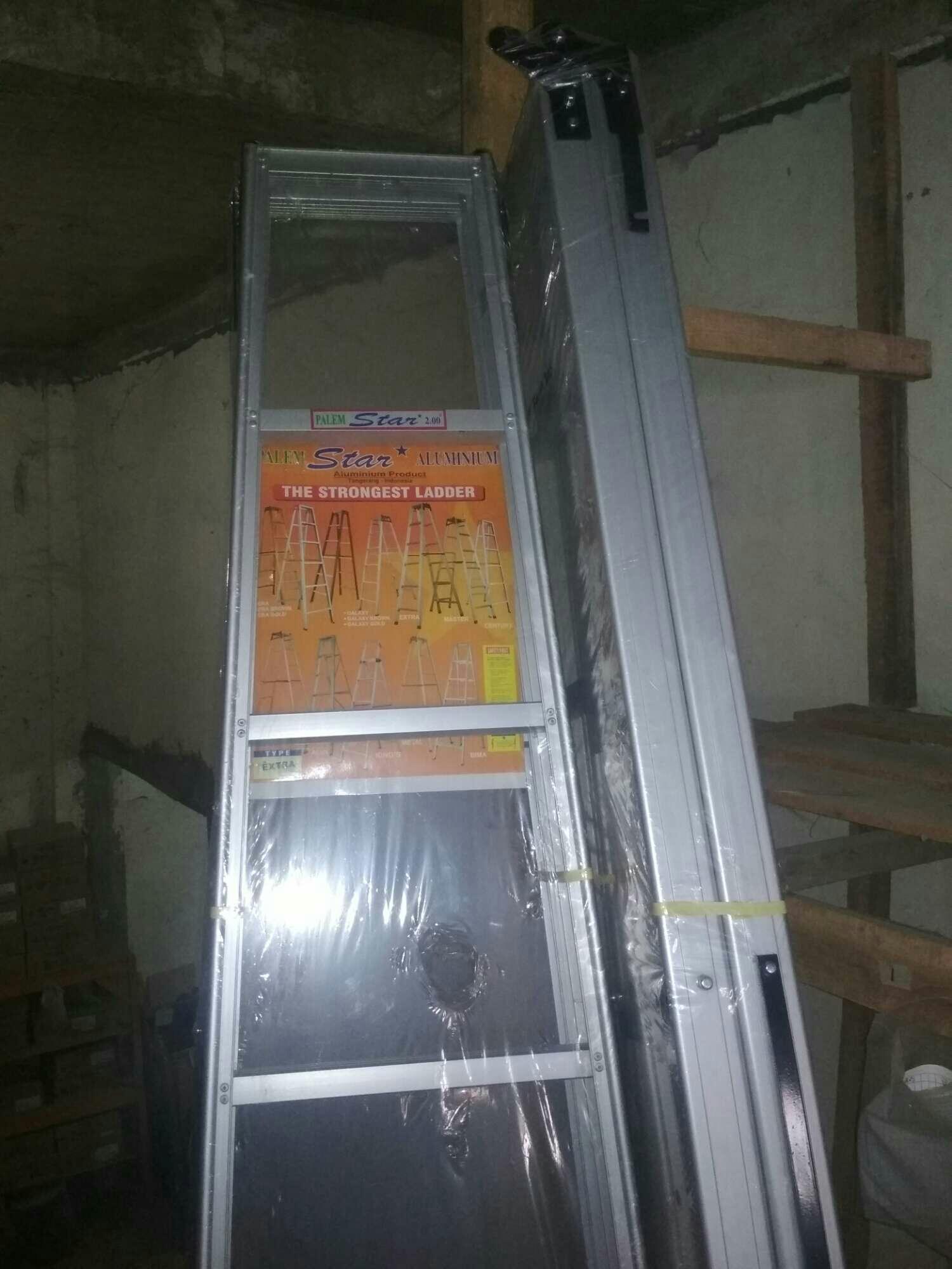 Jual Tangga Lipat Kursi Tinggi Terbaik Aluminium Step Ladder Dalton Ml 406 Palem Star Ekstra 200 Cm