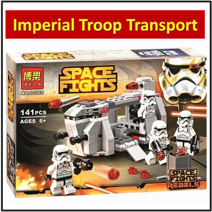 Terbaru!! Lego Bela 10365 Star Wars - Royal Army Shadow-Aircraft Clone Troopers - ready stock