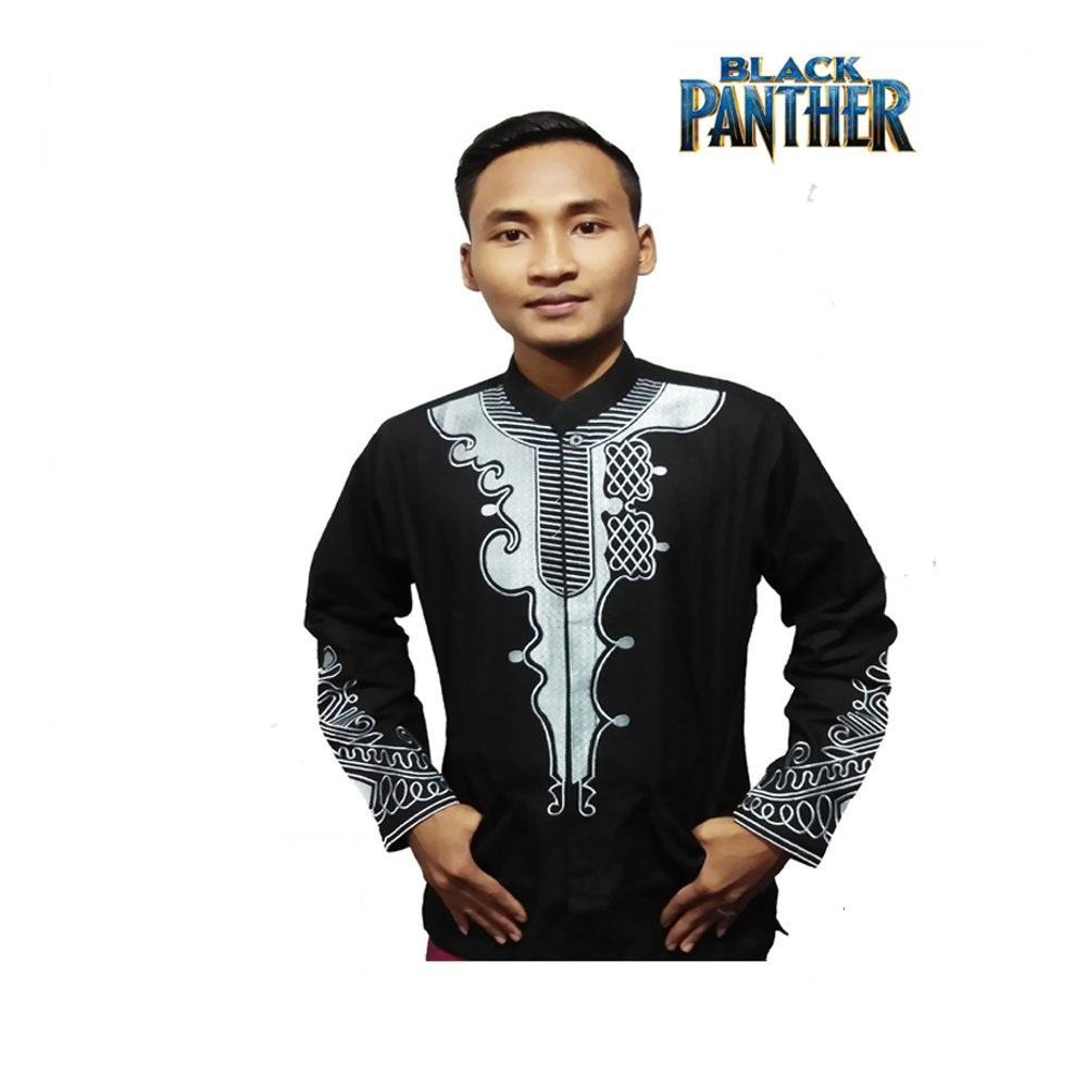 Full Bordir - Baju Koko Black Panther - Baju Muslim