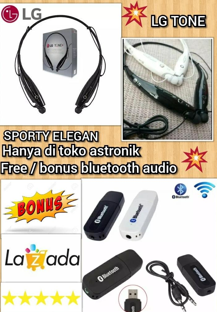 Hendset / handset / hedset / headset / LG TONE WIRELESS FREE AUDIO BLUETOOTH RECEIVER supot hp samsung lg xiaomi vivo oppo asus lenovo dll yg android