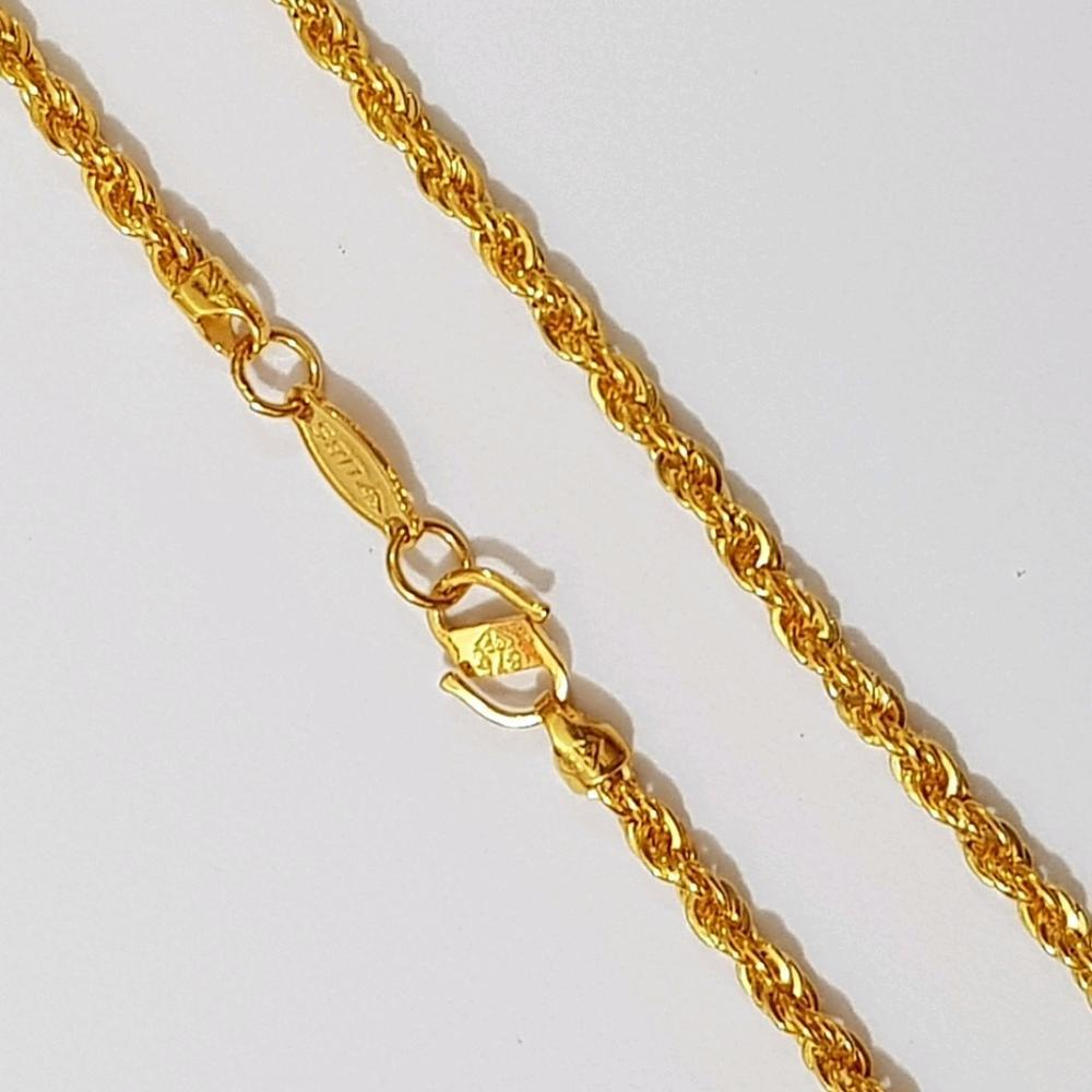 Kalung Emas Asli Kadar 875 Rope Chain / Rantai Tali / Rantai Korea / Perhiasan / Gold Necklace By Yukon Gold.