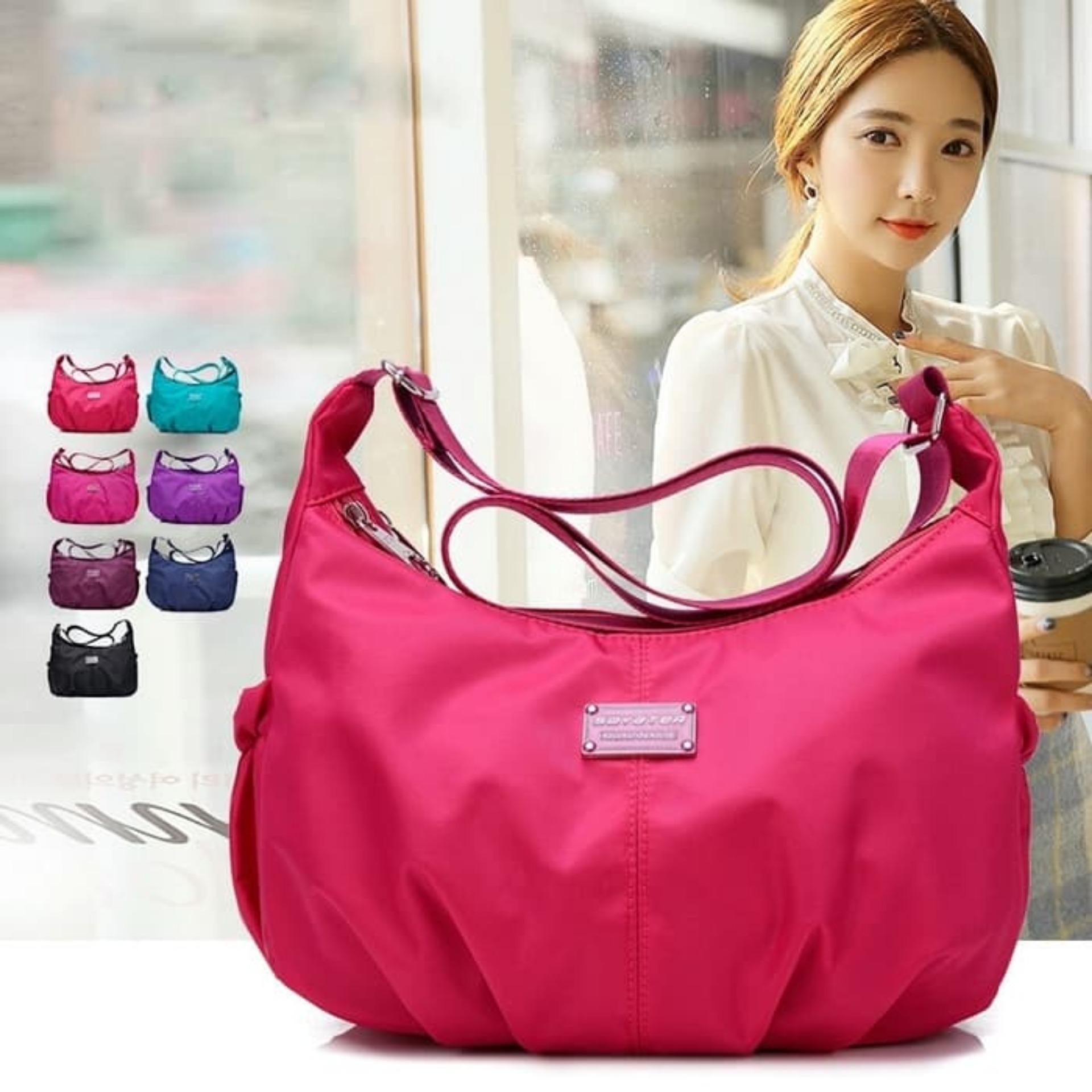 Popular Fashion Women Nylon Shoulder Bag / Tas Selempang