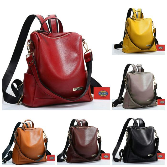 BEST SELLER!!! Tas Ransel Wanita/ Woman Multifunction Backpack- FOSSIL #0764/683#A523 - D21nMQ