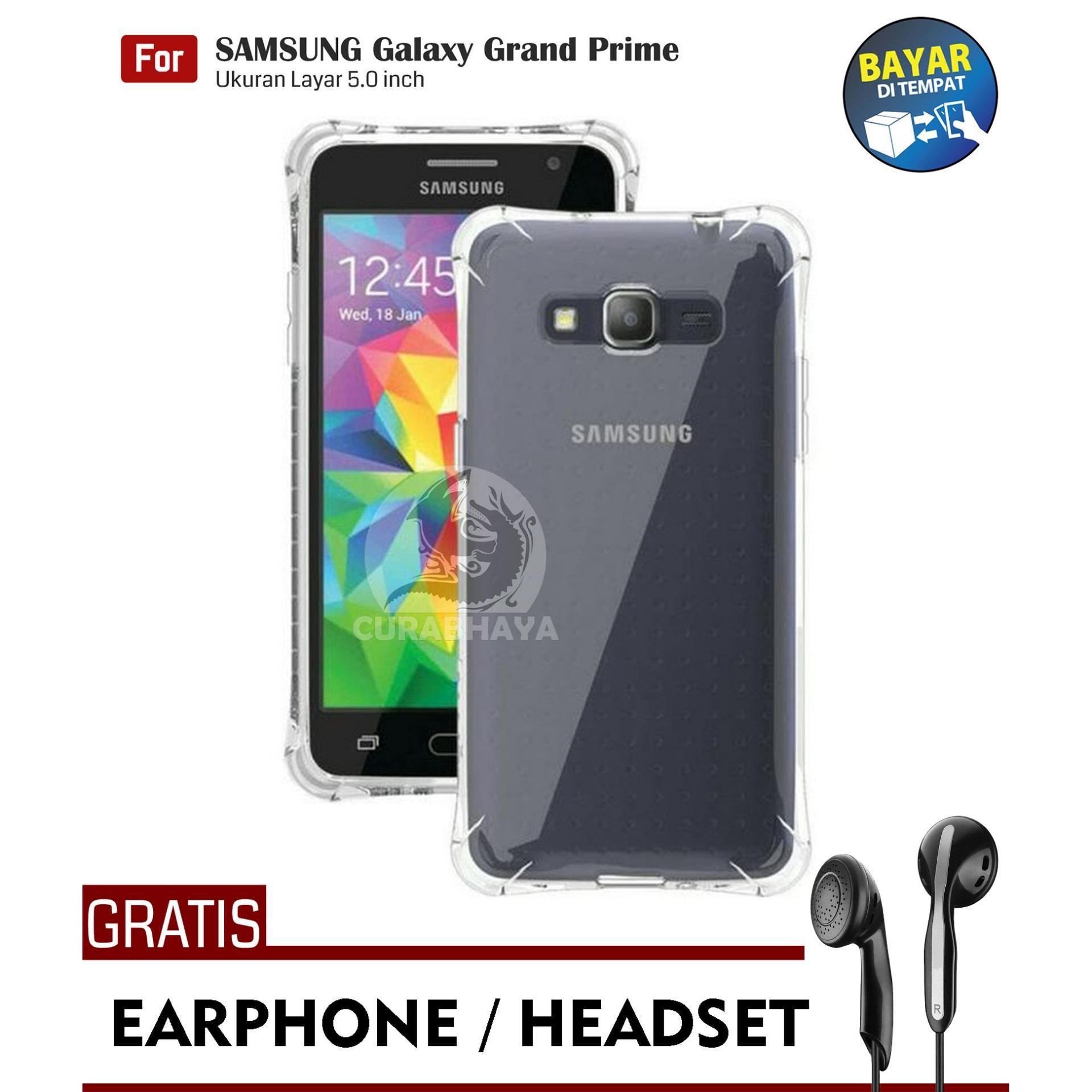AirShock Samsung Galaxy Grand Prime (G530) / +Plus / Duos | Anti Crack Premium Softcase Cushion ShockProof + Gratis Free Earphone Headset Handsfree