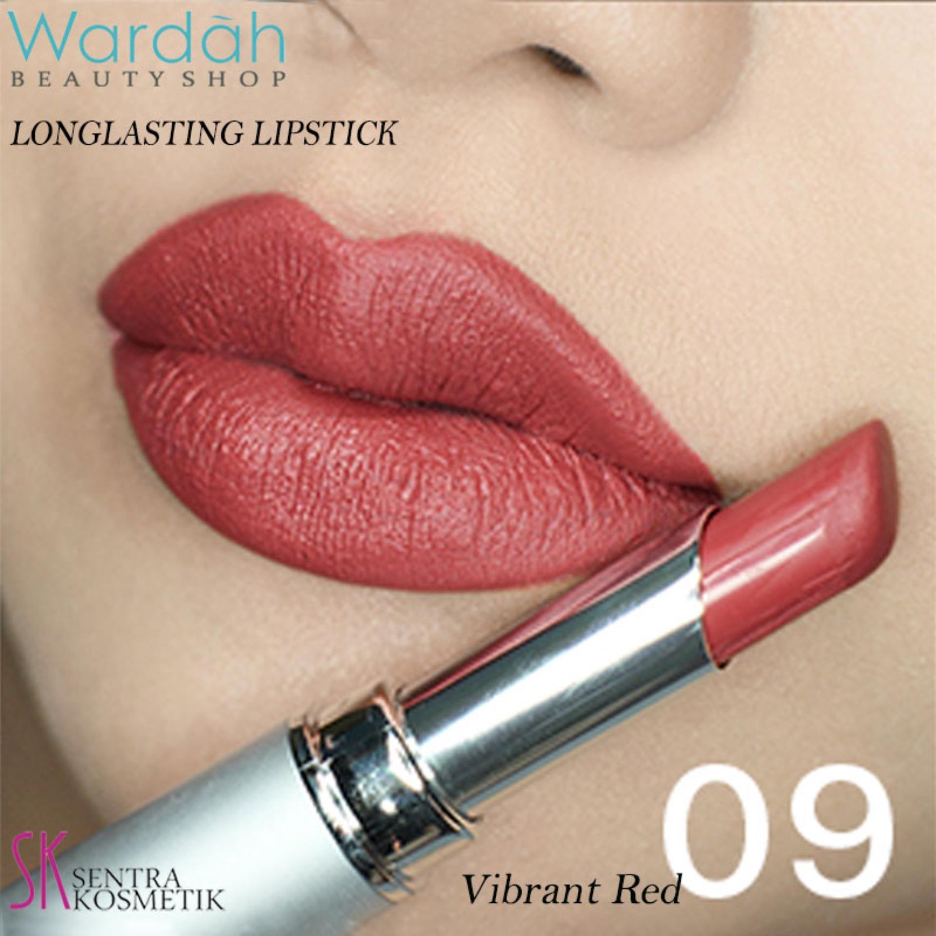 Wardah LONGLASTING Lipstick No.09 Vibrant Red