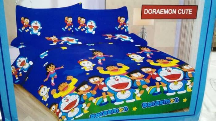 Sprei Doraemon Cute no.1 Bonita 3D ||| sprei kintakun my love kintakun 180x200 bonita polos lady rose katun jepang waterproof 160x200 bed cover set california