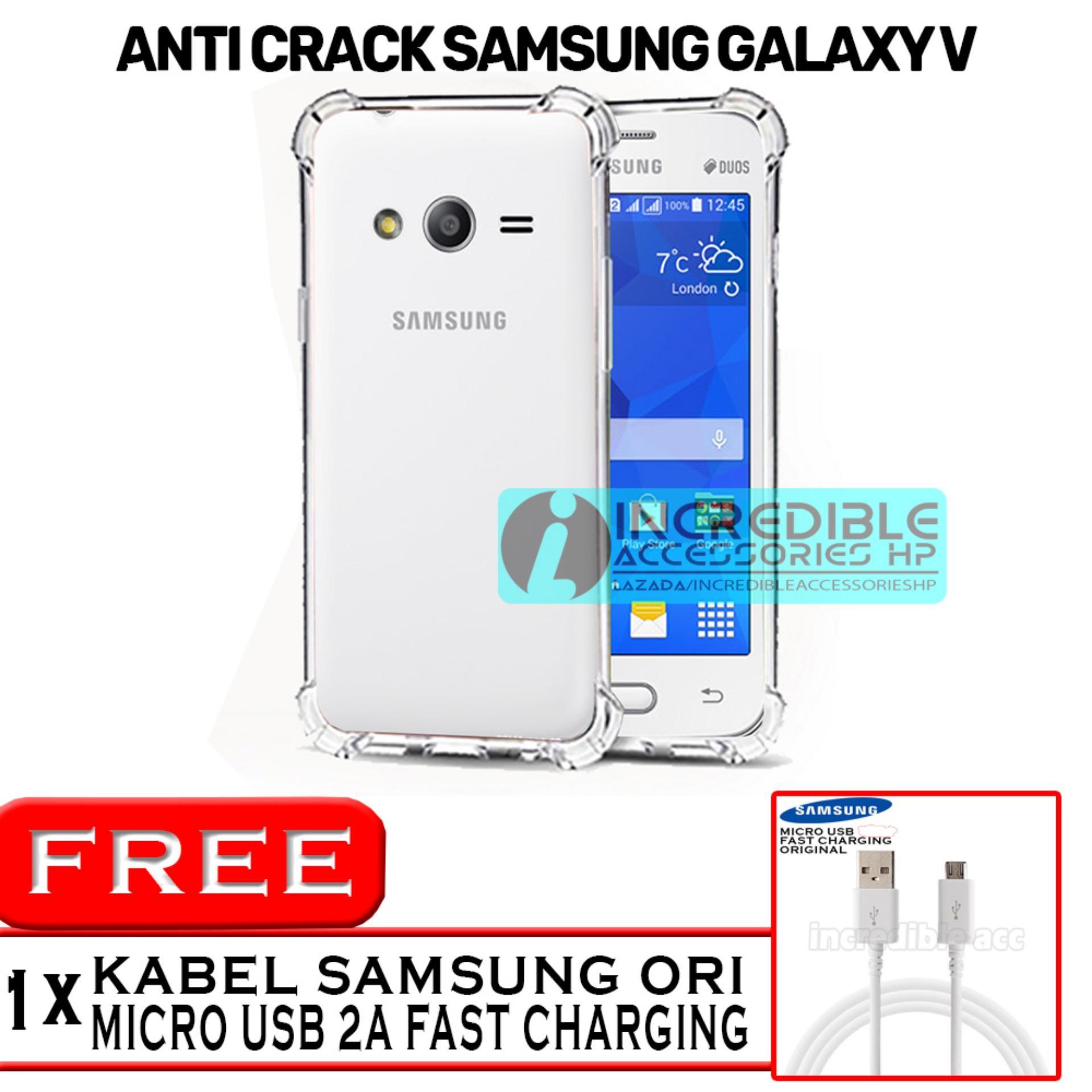 Samsung Galaxy V Galaxy V Plus Anti Crack Softcase Elegant Jelly Case White .