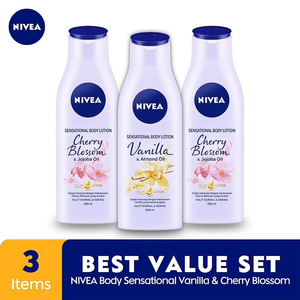 Nivea Body Sensational Vanila & Cherry Blossom - Best Value Set By Lazada Retail Nivea.