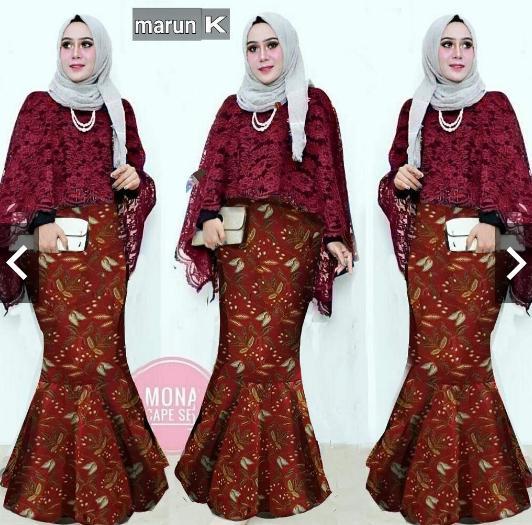 Moslemwear Setelan Set Batik Silk Prada Wanita Setelan Set Kebaya ... 34d84c0934