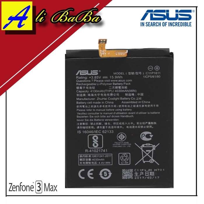Baterai Handphone Asus Zenfone 3 Max Zc52otl X008DC Batre HP Battery