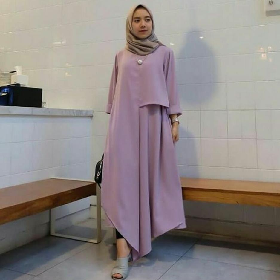 Ria_Store Inul Dress Lavender // Busana Muslim Wanita MC223 Inul Dress Lavender // Maxi Dress / Maxi Muslim / Dress Muslim / Busana Muslim / Baju Muslim / Hijab Fashion / Hijab Style - Hight Quality
