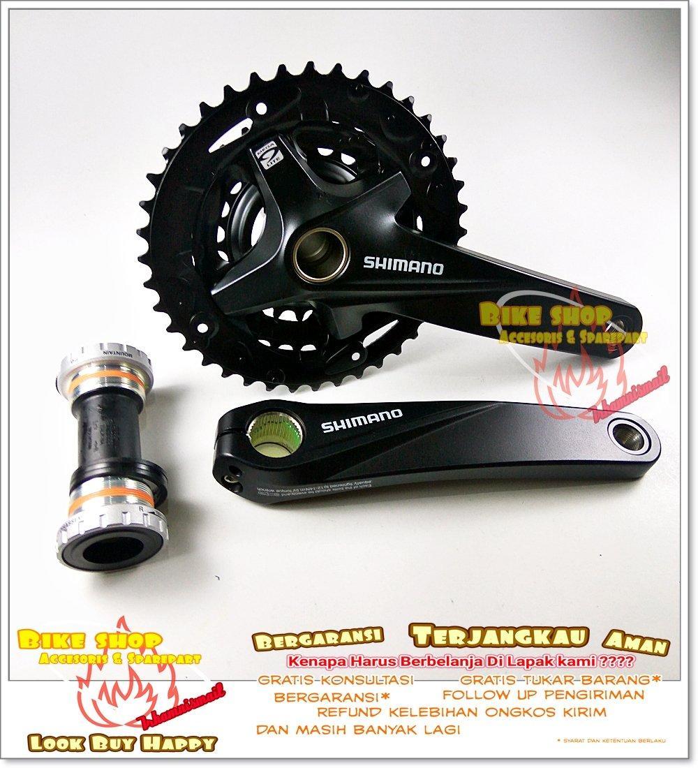 6fba5338fa9 Crank Bolong Shimano Altus HT 2 Hitam 1 Dengan BB MT200
