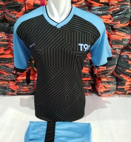 setelan olahraga kaos bola jersey futsal baju volly nike five hitam biru