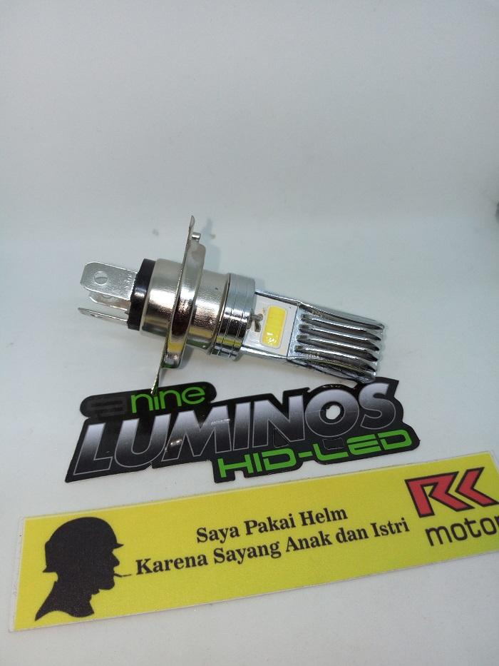 Lampu motor LED untuk vixion,byson,CB150 dll fitting H4 arus DC
