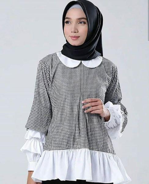 Reyn Shop Blouse Erkud Top Hitam Tunik Wanita Baju Atasan Baju Source · FO Baju Gamis Muslim Original Sabela Top Modern Wanita Promo