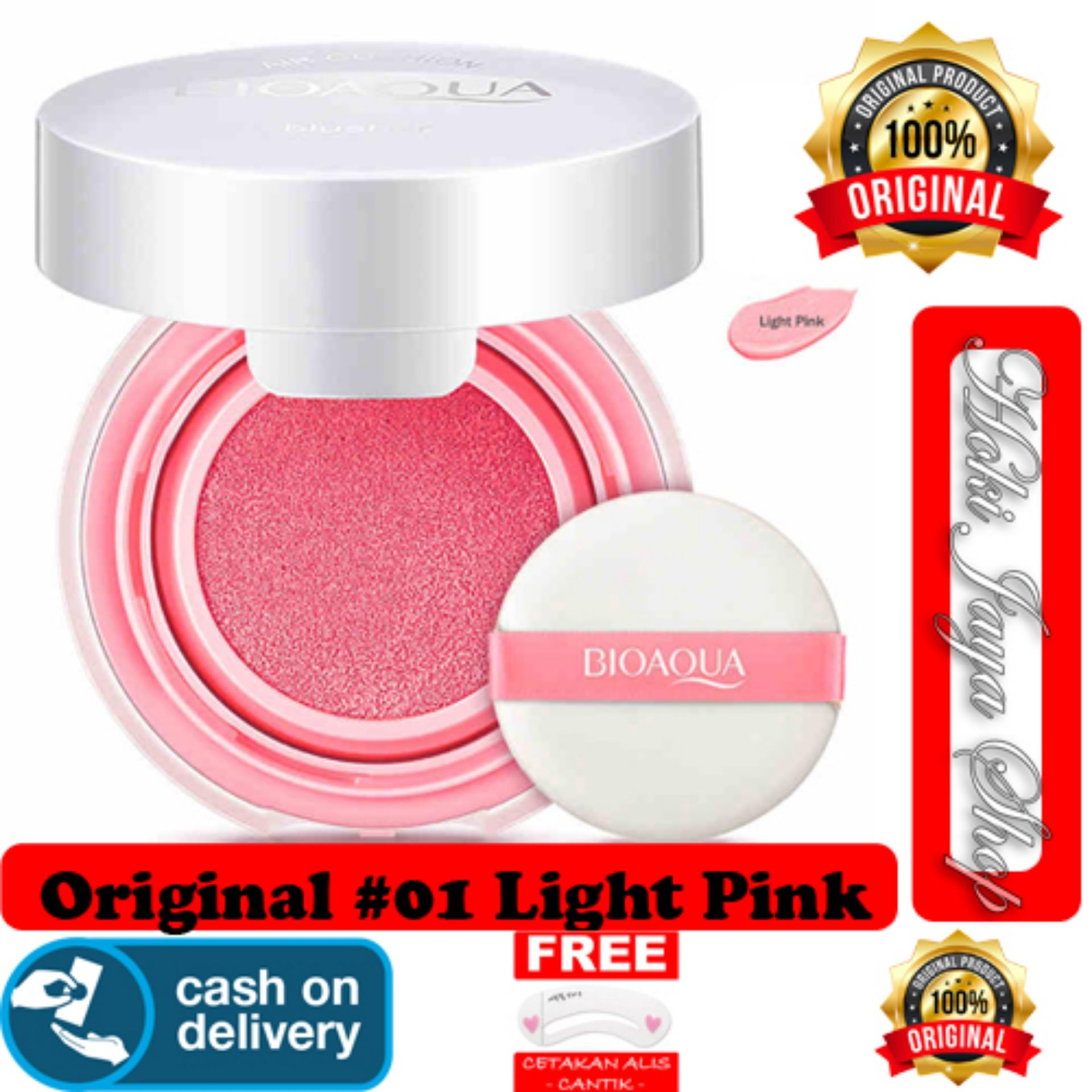 HOKI COD - 01# LIGHT PINK - BioAqua Blush On Air Cushion - Smooth Muscle Flawless - Perona Pipi + G