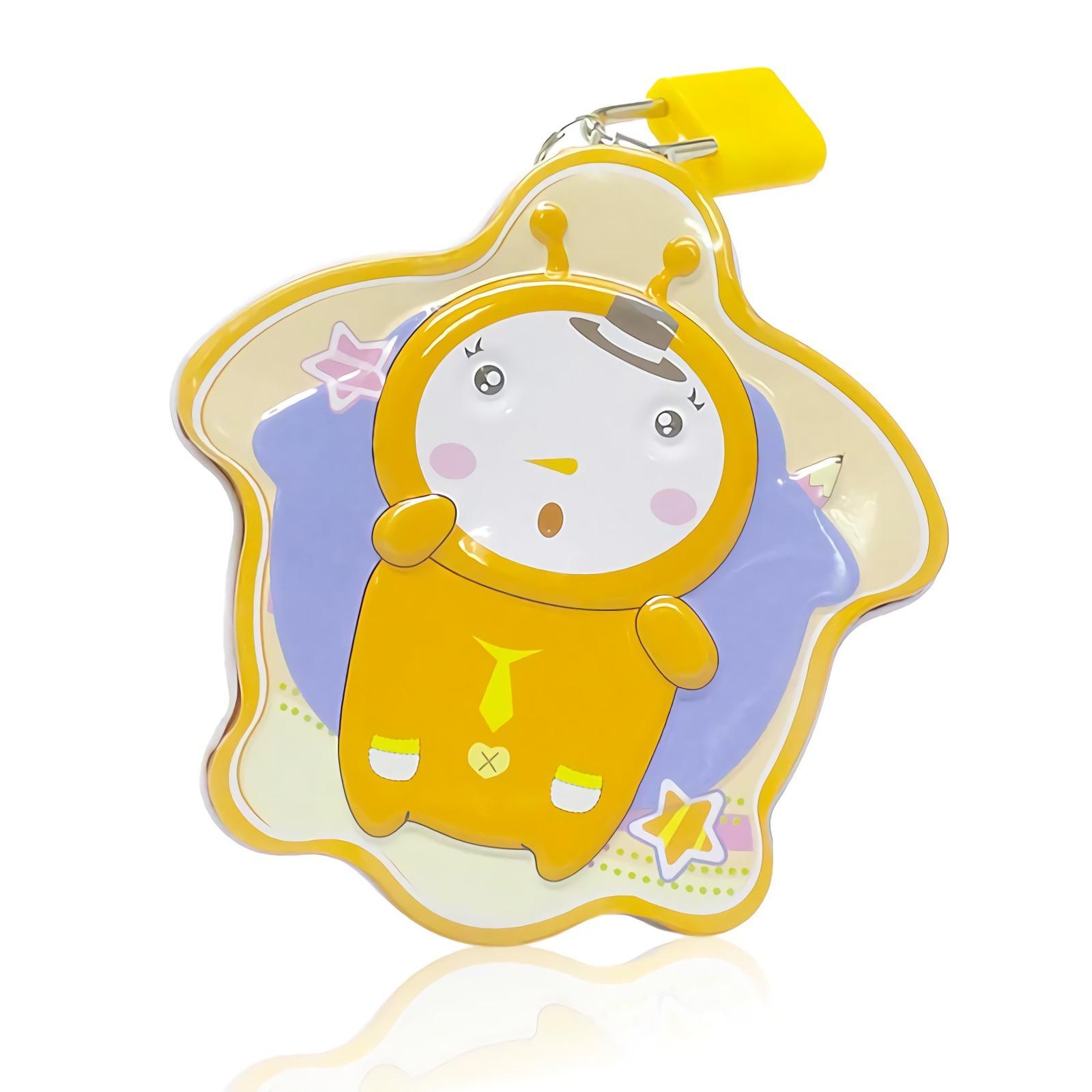 OHOME Celengan Koin Coin Bank Kaleng Dengan Gembok Kunci Lock MS-DME007 Oranye