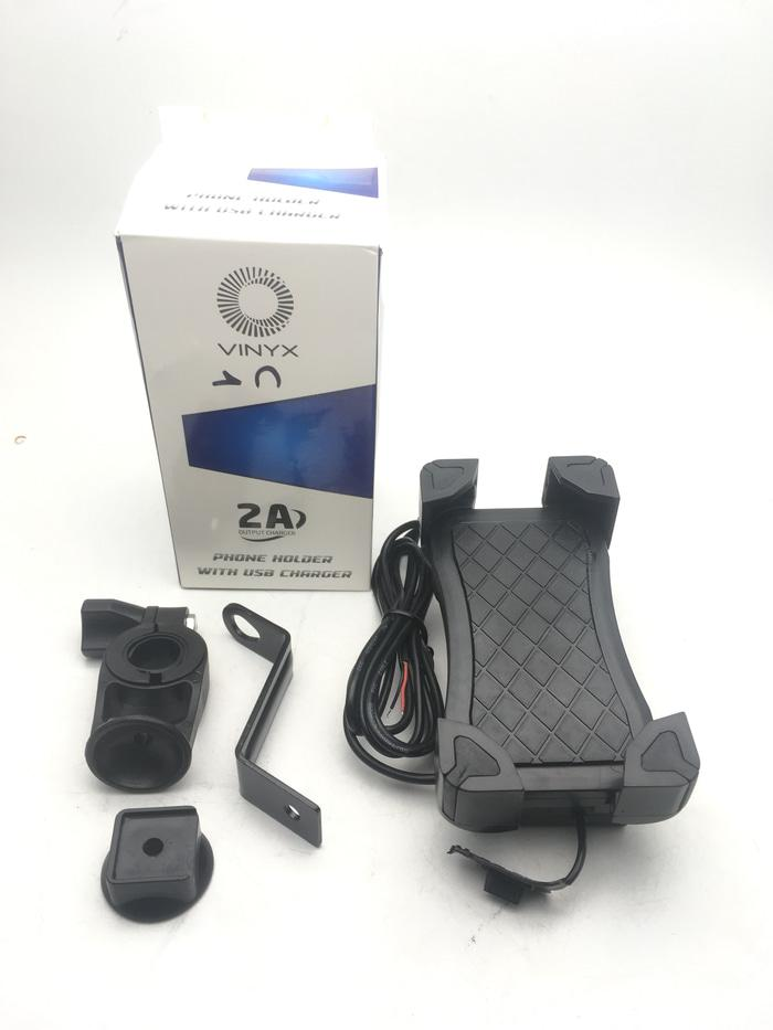 BEST SELLER BISA COD - Holder Hp + Charger Casan USB Vinyx 2in1 Harga diskon Promo, Murah dan Berkualitas - TOKO RAMA SWALAYAN