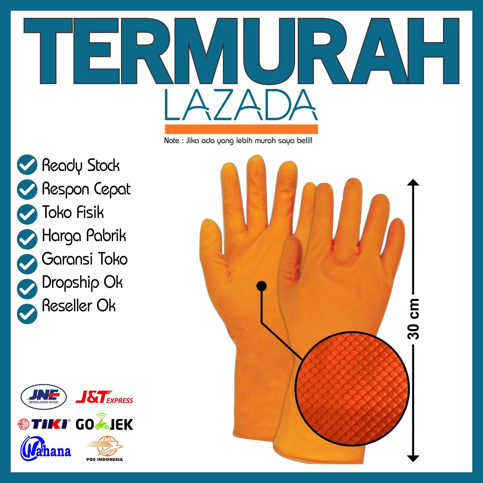 sarung tangan pencuci cuci piring latex glove rubber karet grip