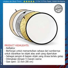 Third Party Reflector 5 in 1 80cm - Universal