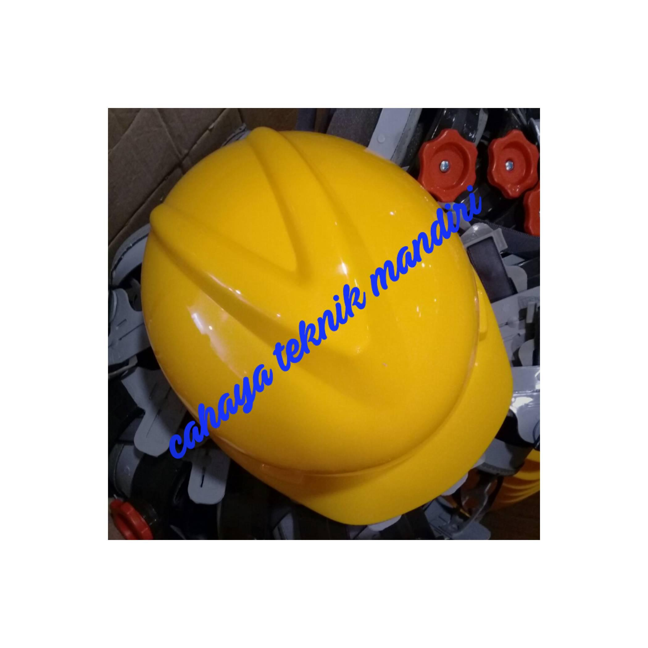 helmet safety msa lokal with fastrac kuning / putar / helm safety msa