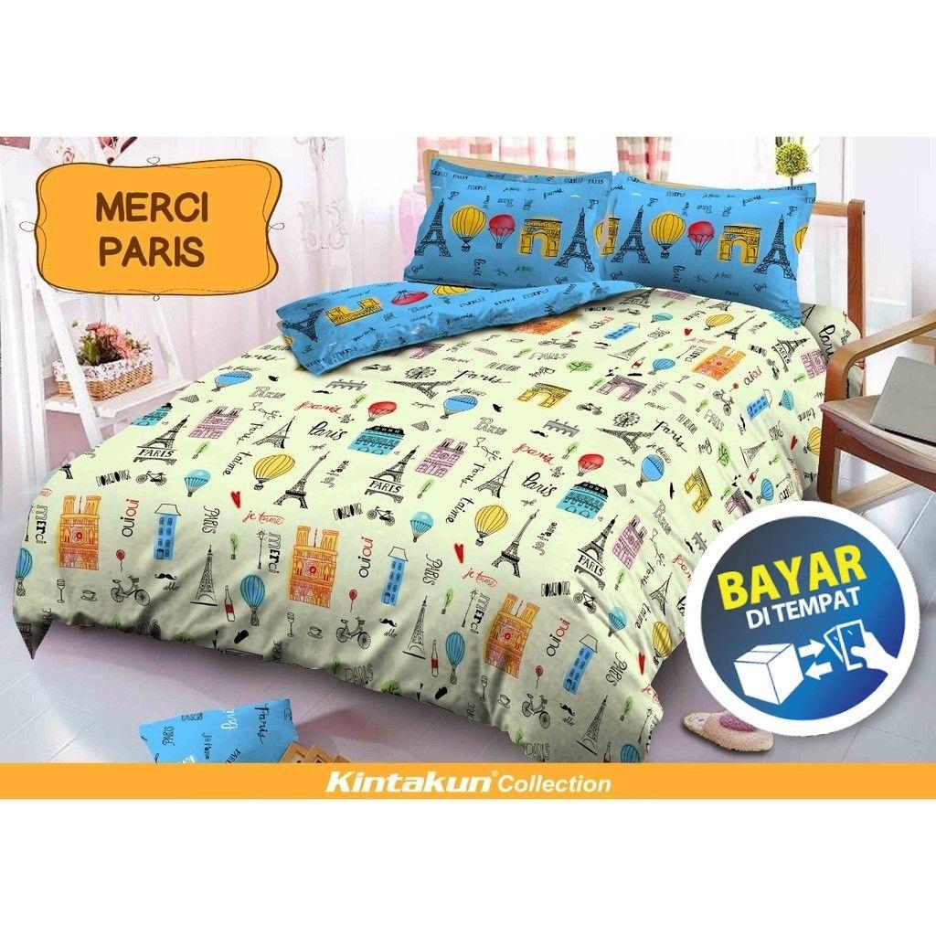 Sprei Bed Cover Kintakun Terbaru Dluxe 180 X 200 B4 King Cerish Deluxe Merci Paris